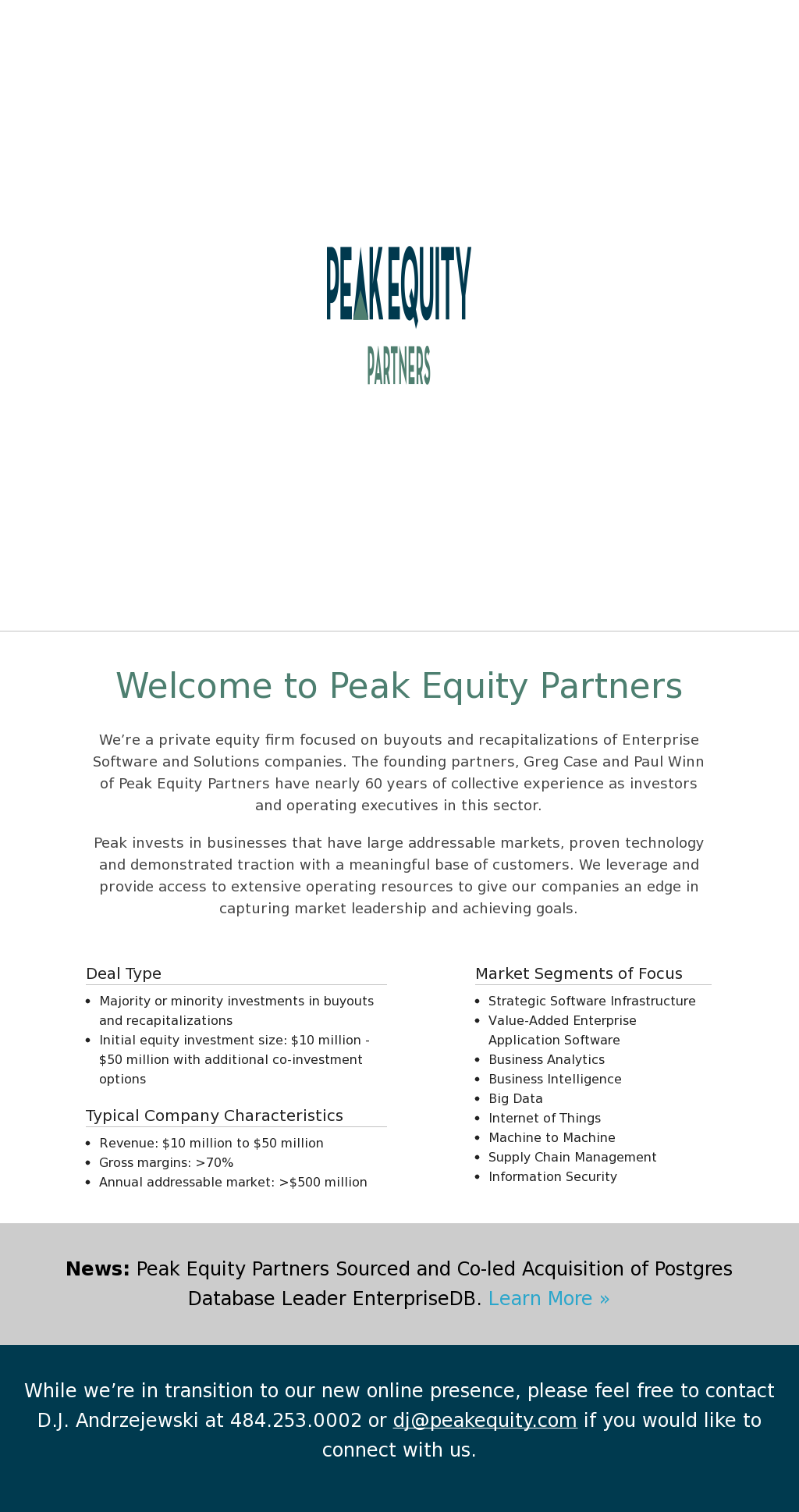 Peak Equity Partners Competitors, Revenue and Employees - Owler