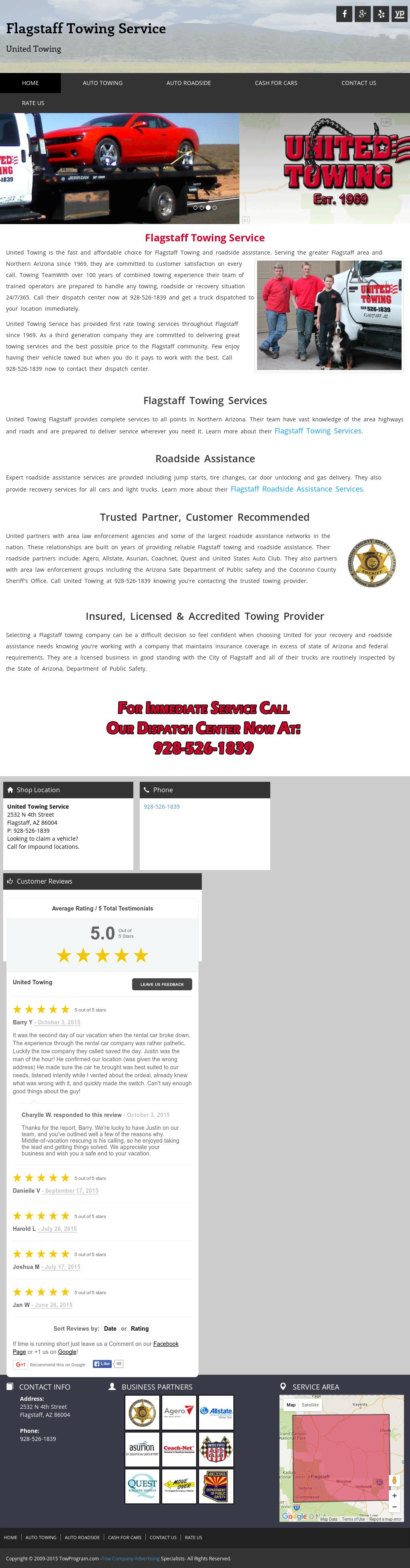 unitedtowingflagstaff competitors revenue and employees owler
