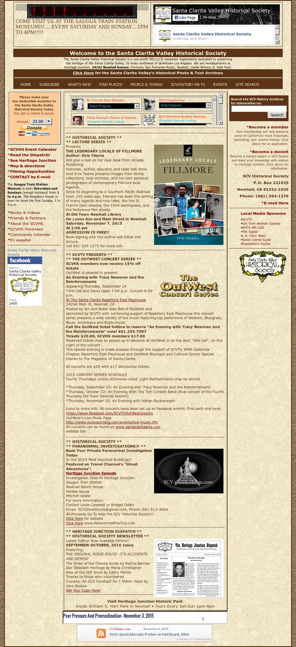 Santa Clarita Valley Historical Competitors, Revenue and