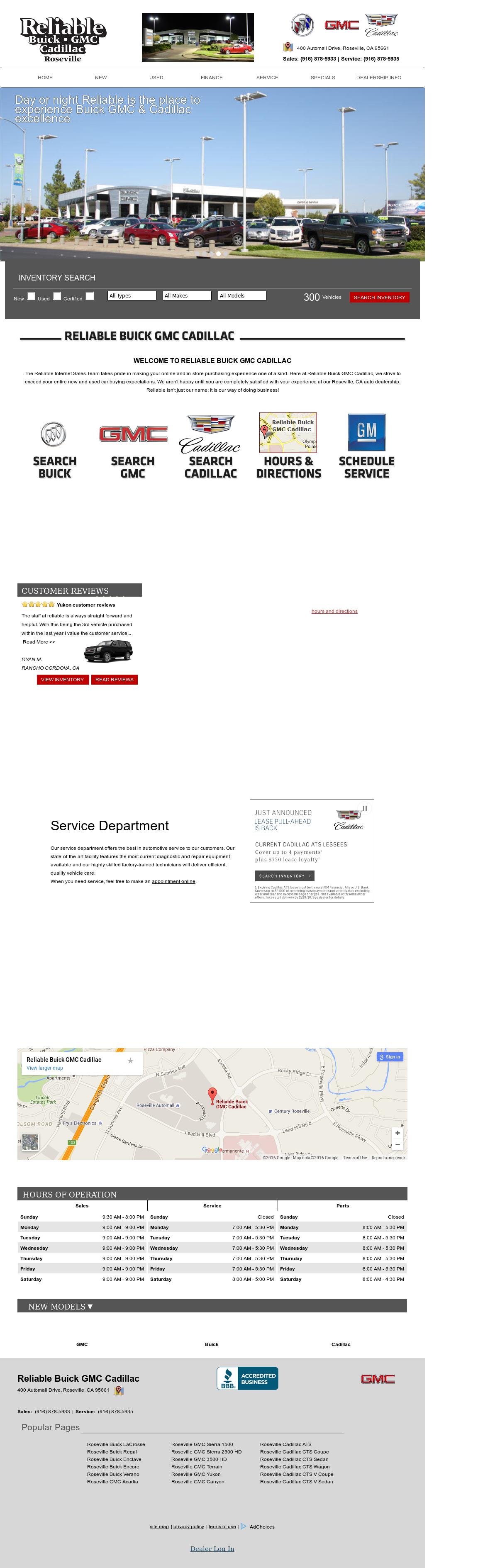 Reliable Buick Cadillac Gmc petitors Revenue and Employees