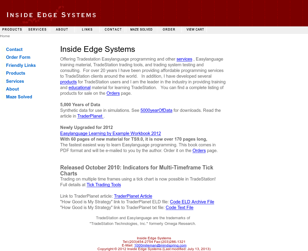 Tradestation Easylanguage Inside Edge Systems Competitors