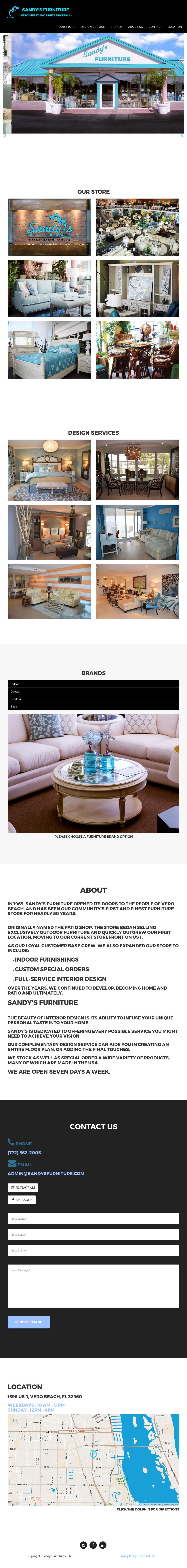 Sandy S Furniture Of Vero Beach Website History