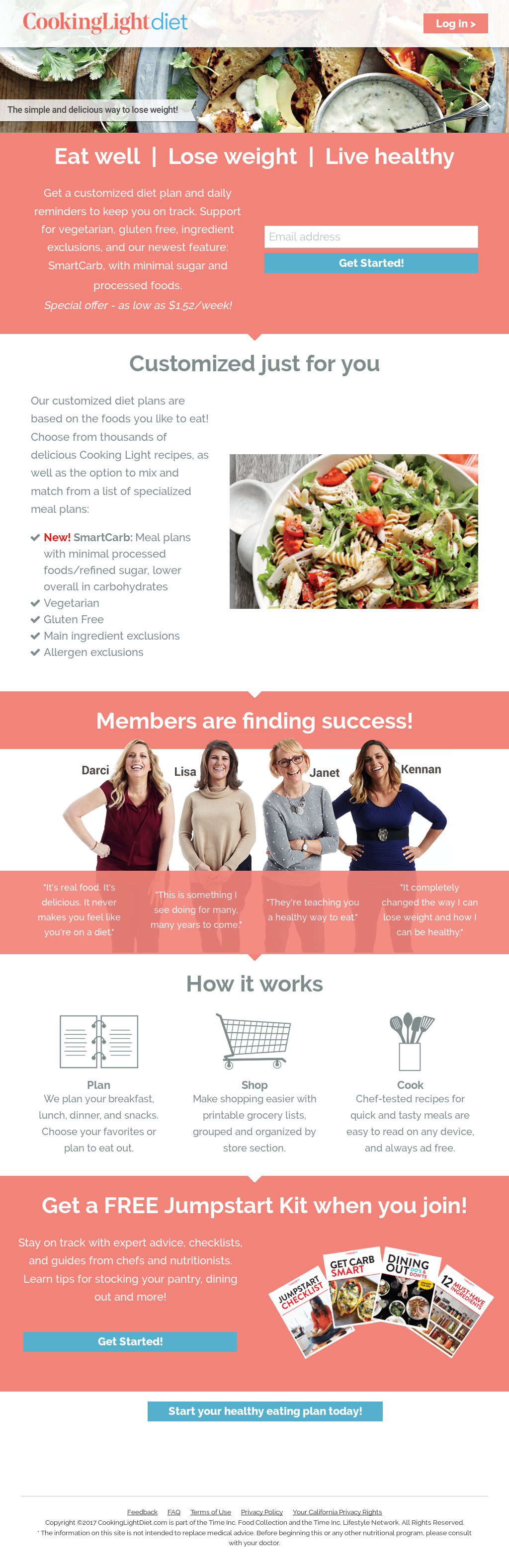 Cooking Light Diet Website History