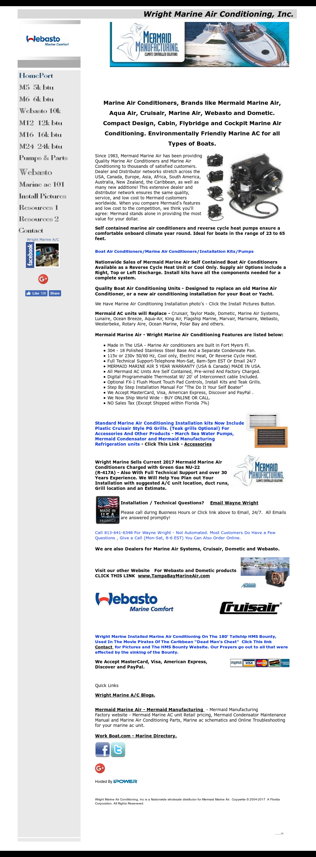 Wright Marine Air Conditioning Competitors, Revenue and