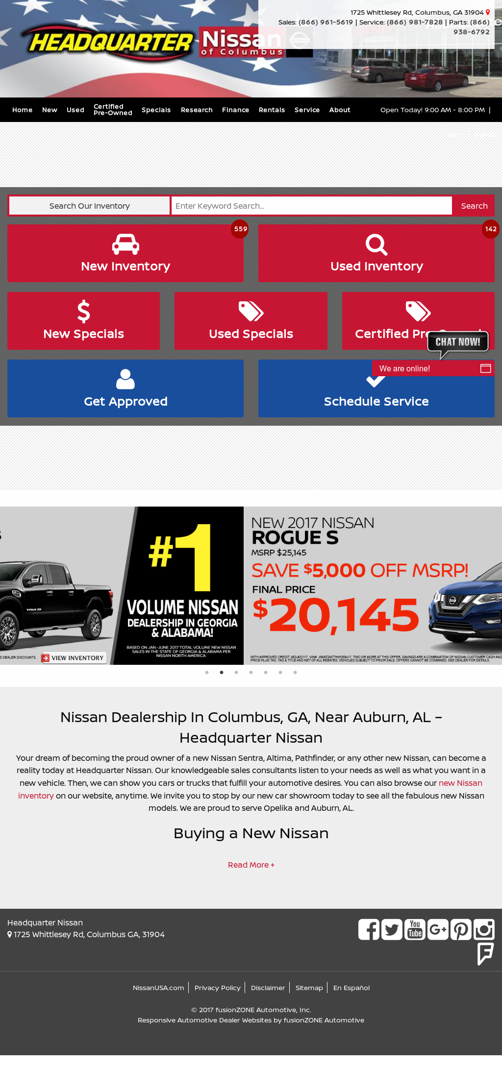 Headquarter Nissan Of Columbus Website History