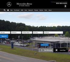 Mercedes Benz Of South Atlanta Website History