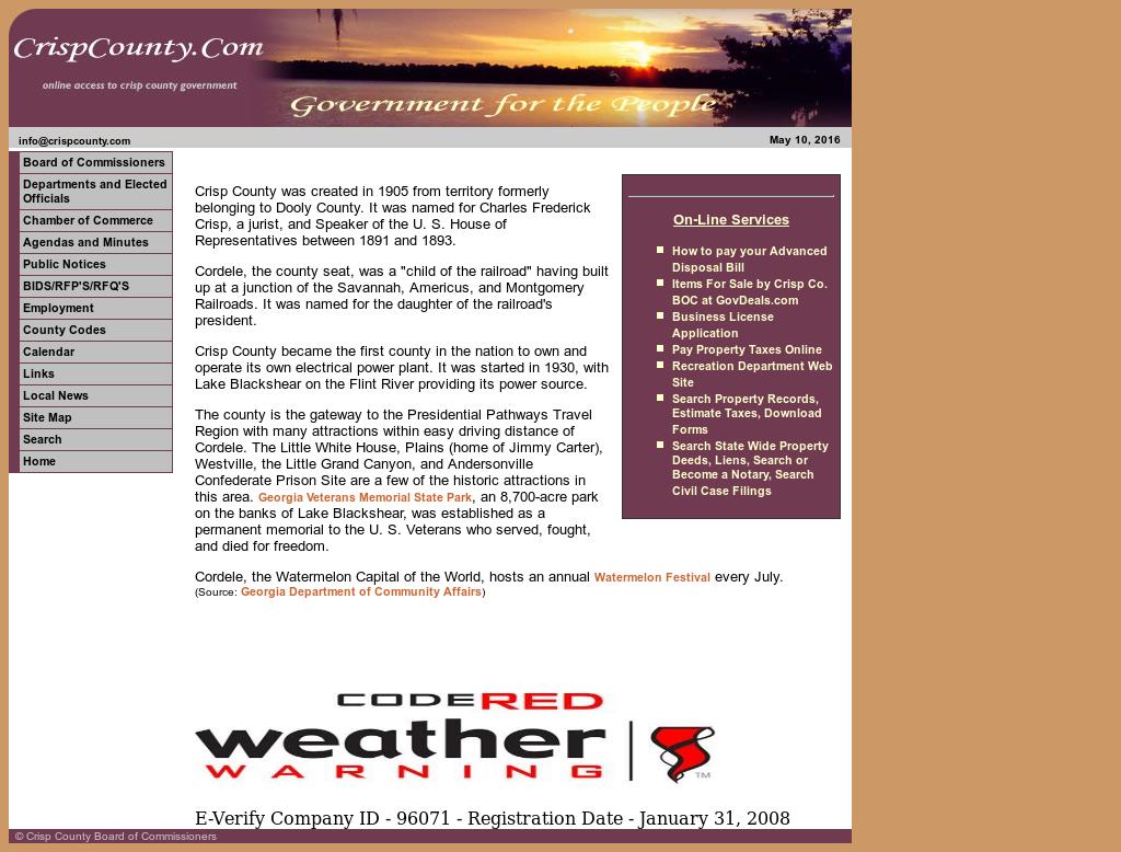 Crisp County, Georgia Competitors, Revenue and Employees