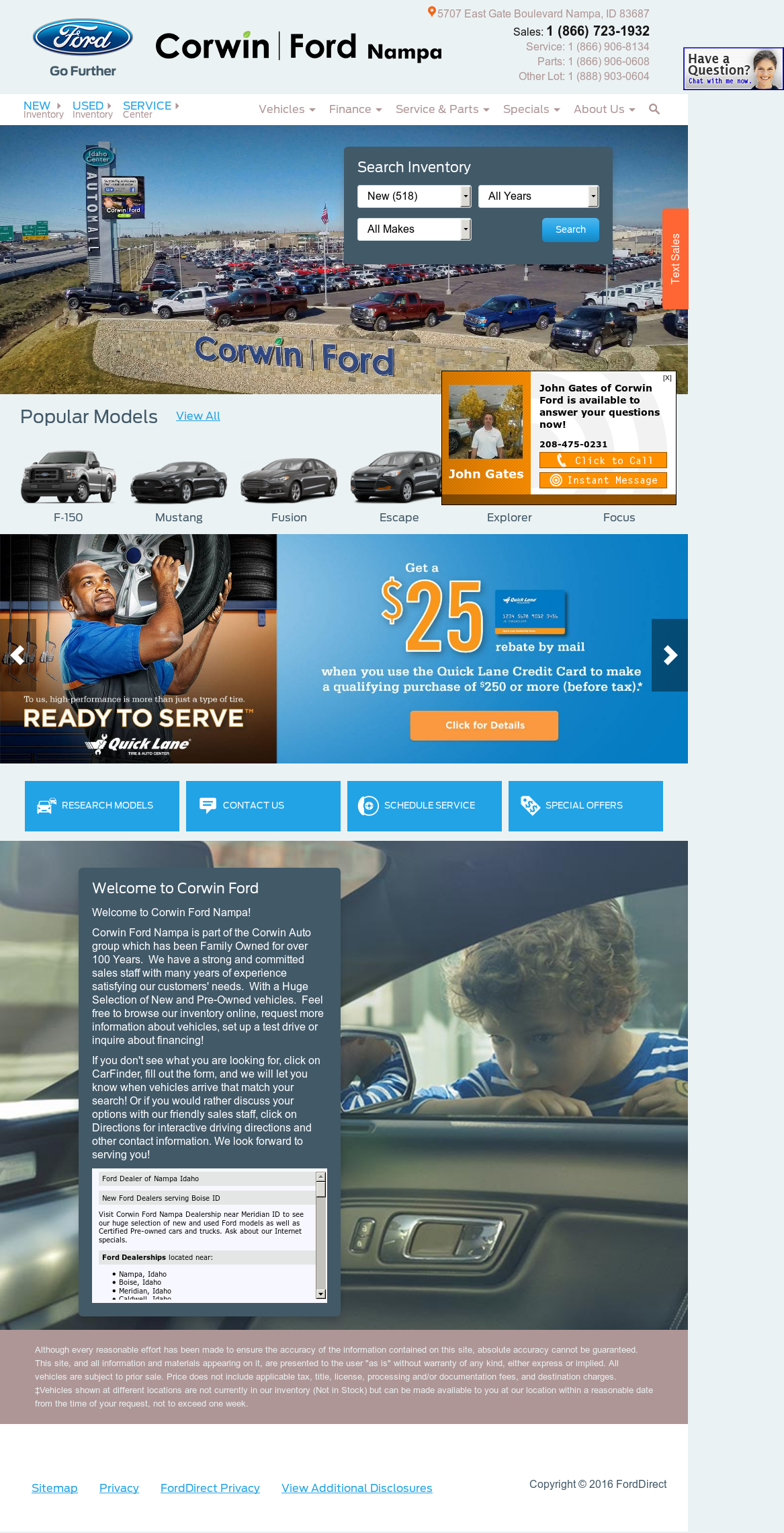 Corwin Ford Nampa >> Corwin Ford Competitors Revenue And Employees Owler