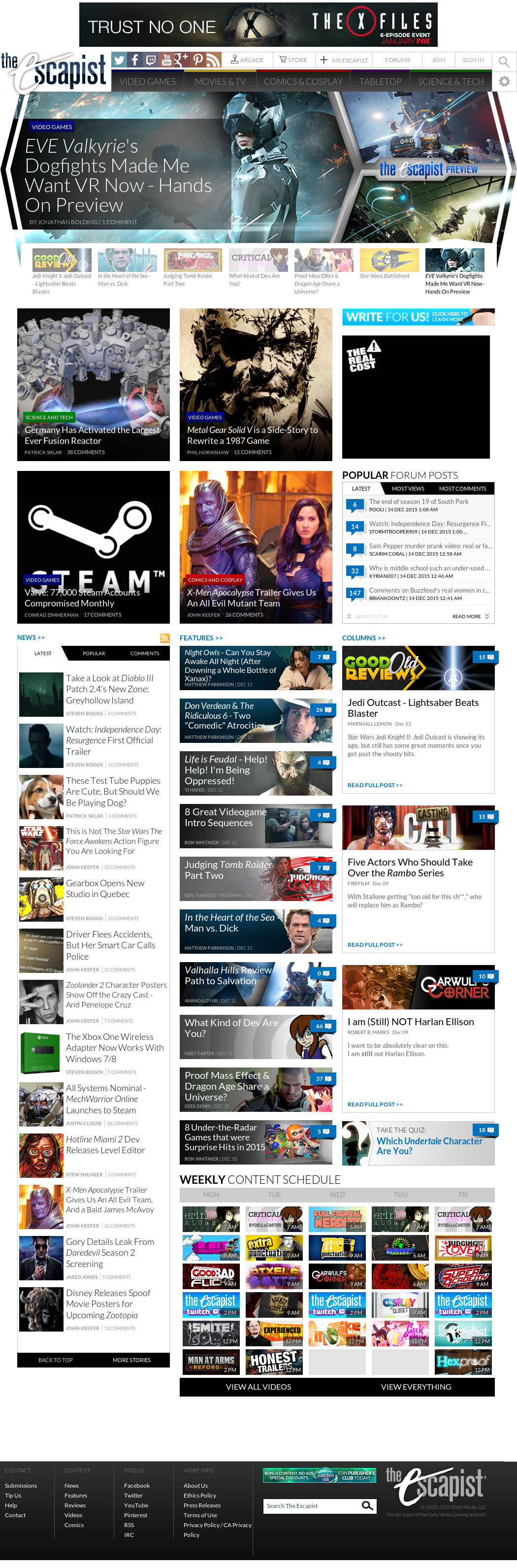 The Escapist S Latest News Blogs Press Releases Videos