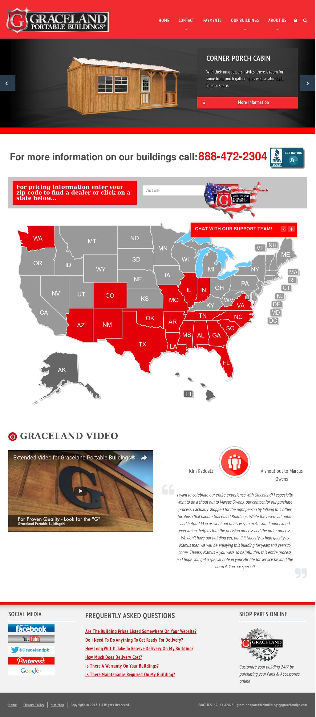 Graceland Portable Buildings Competitors, Revenue and