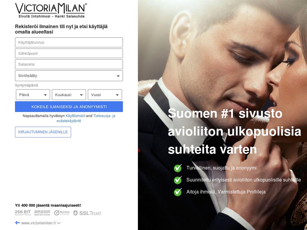 suomalaiset seksivideot pettämissivusto victoria milan