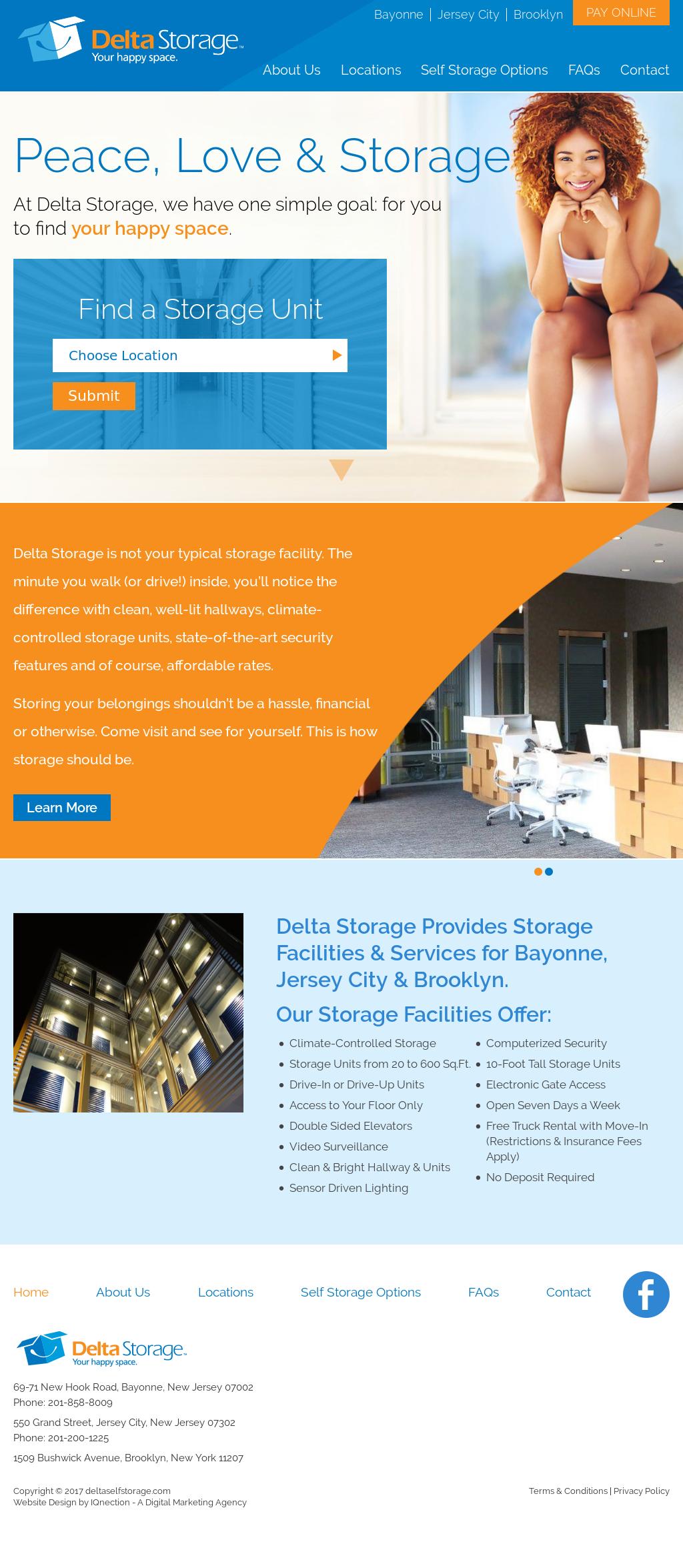 Delta Self Storage Website History
