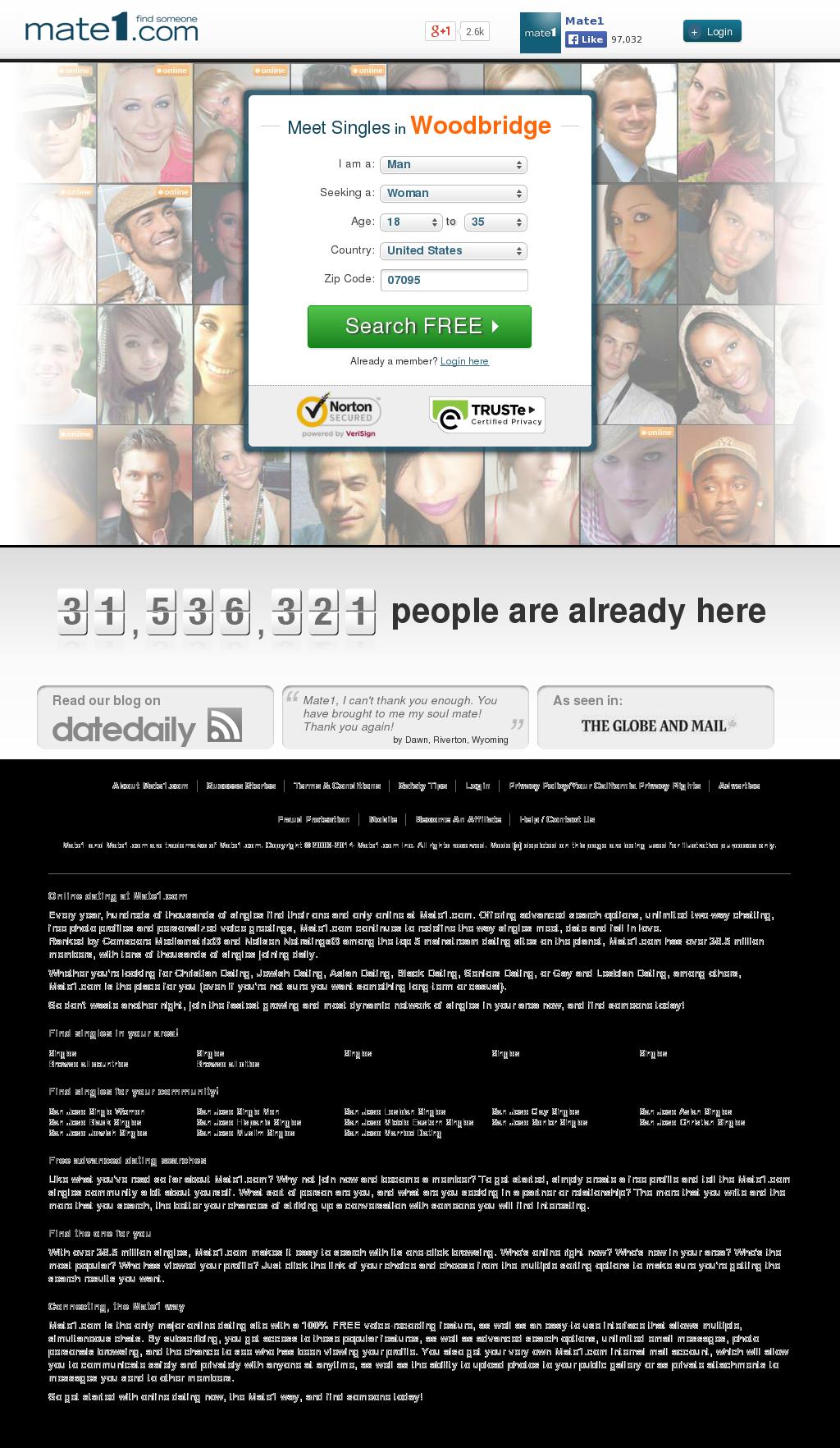 Mate1 com member login