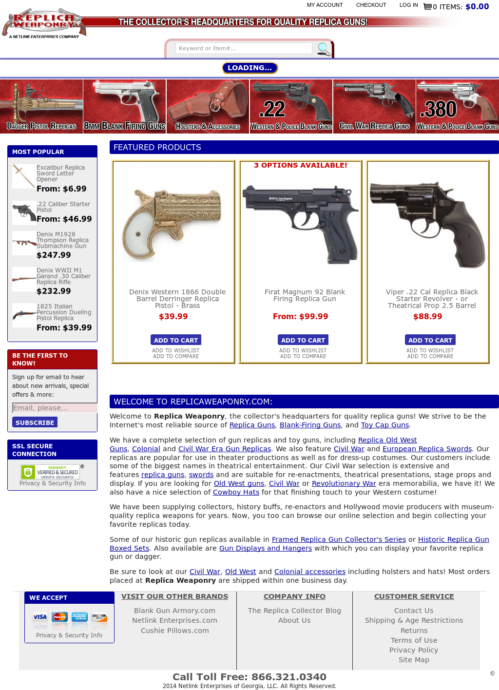 Gun Replicas Guns & Weapons Competitors, Revenue and Employees