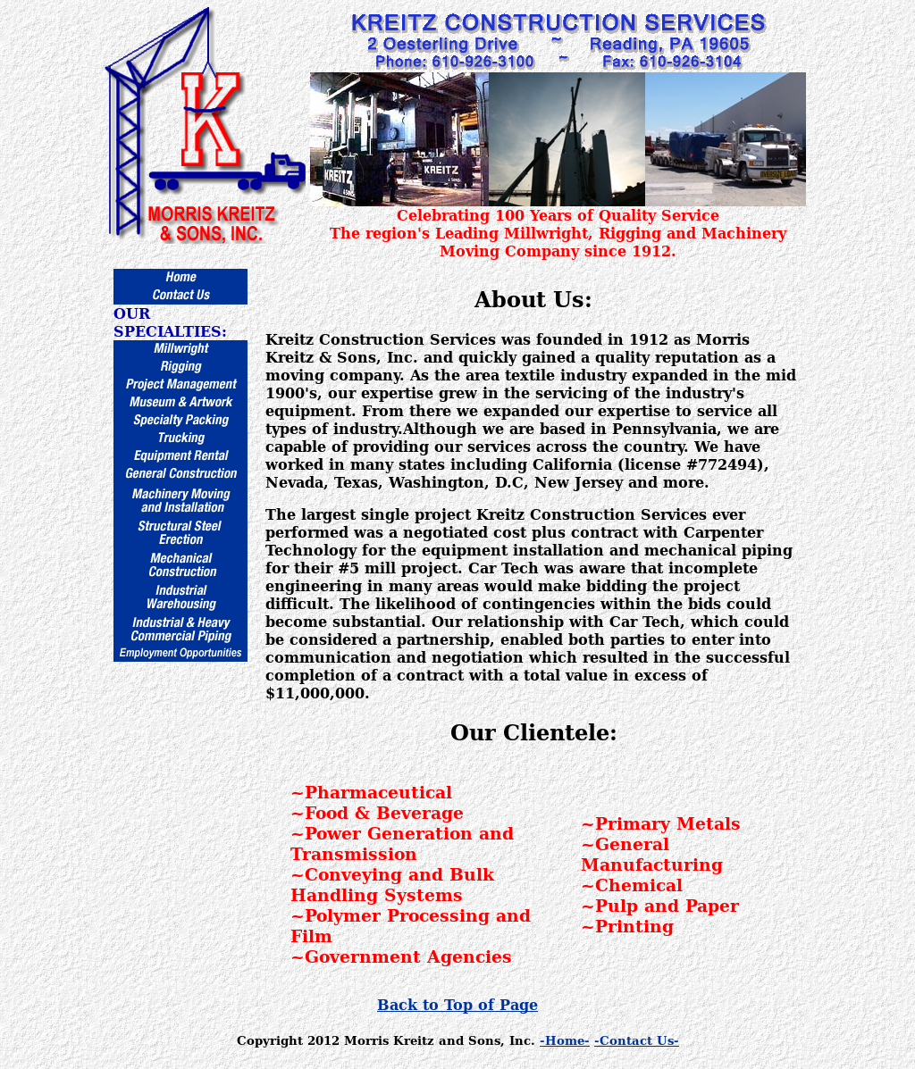 Kreitz, Morris & Sons Competitors, Revenue and Employees