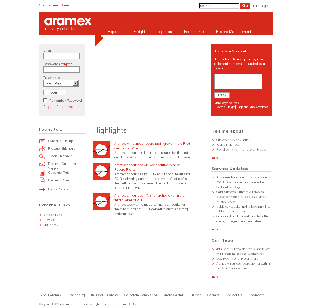 download click to ship aramex