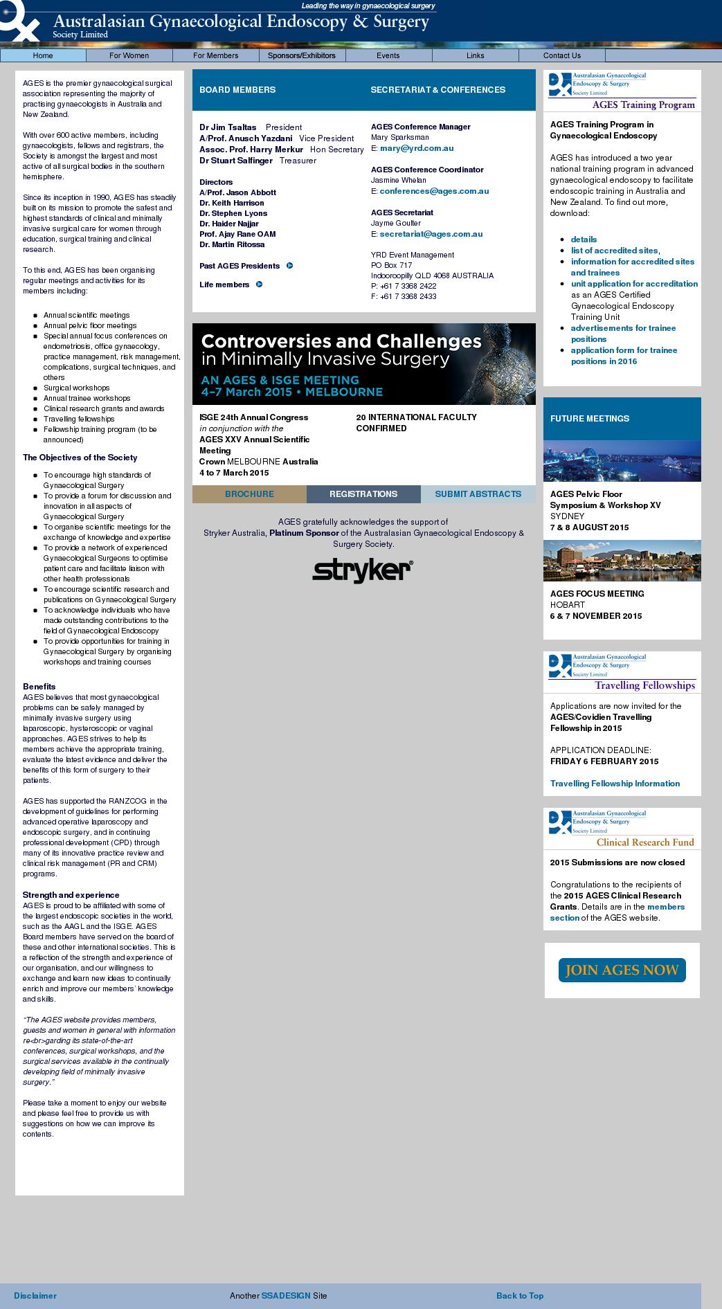 Australian Gynaecological Endoscopy Society Competitors