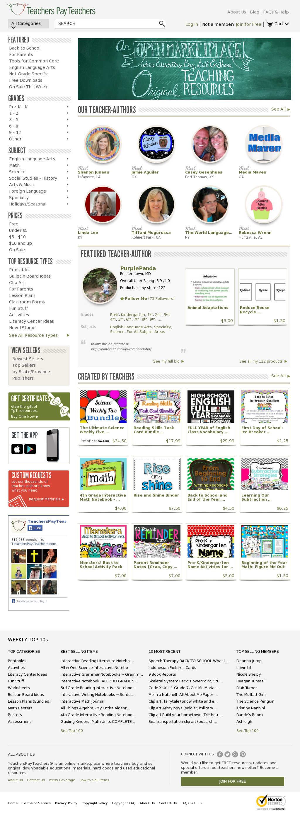 teachers pay teachers Lesson plans, unit plans, and classroom resources for your teaching needs browse or search thousands of free teacher resources for all grade levels and subjects.