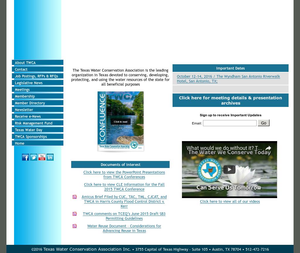 Texas Water Conservation Association Competitors, Revenue