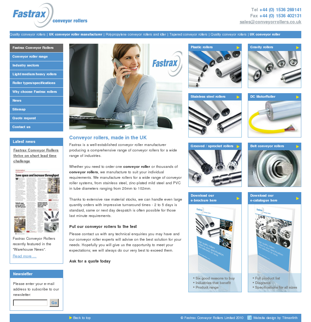 Fastrax Conveyor Rollers Competitors, Revenue and Employees - Owler