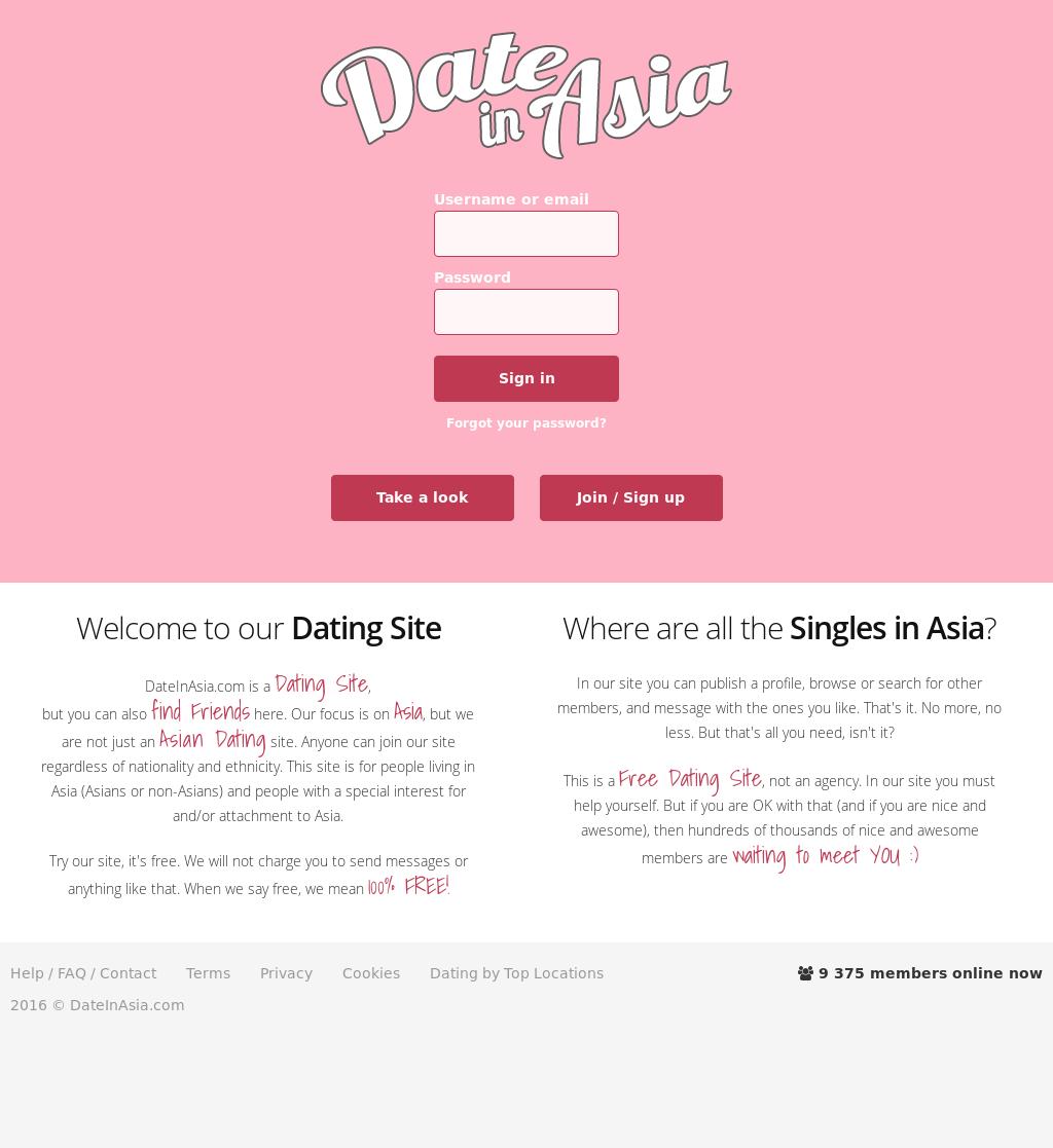 Dateinasia com sign up