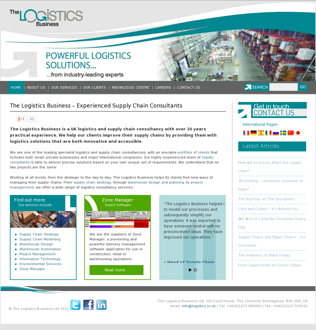 The Logistics Business Competitors, Revenue and Employees