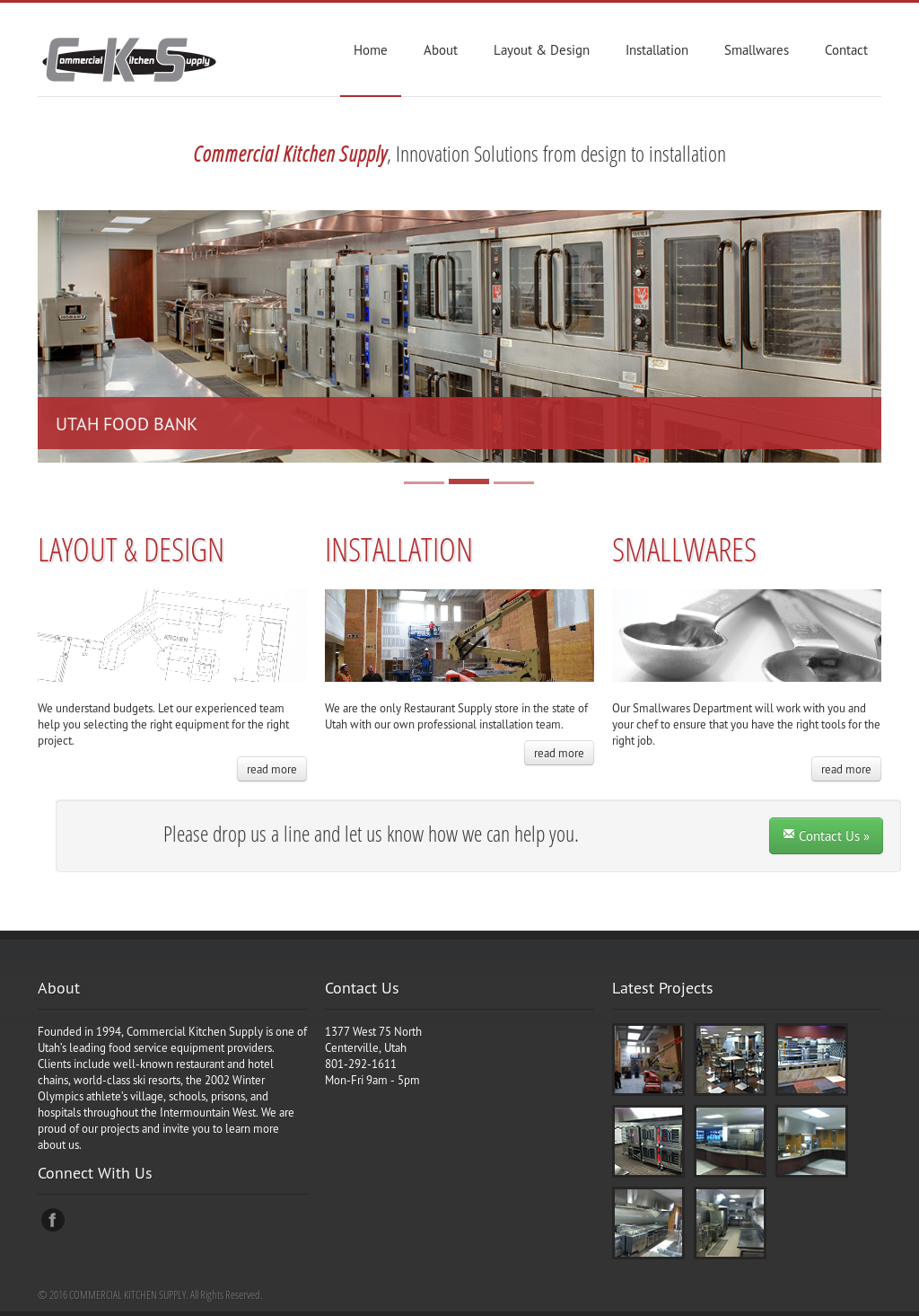 Commercial Kitchen Supply Website History