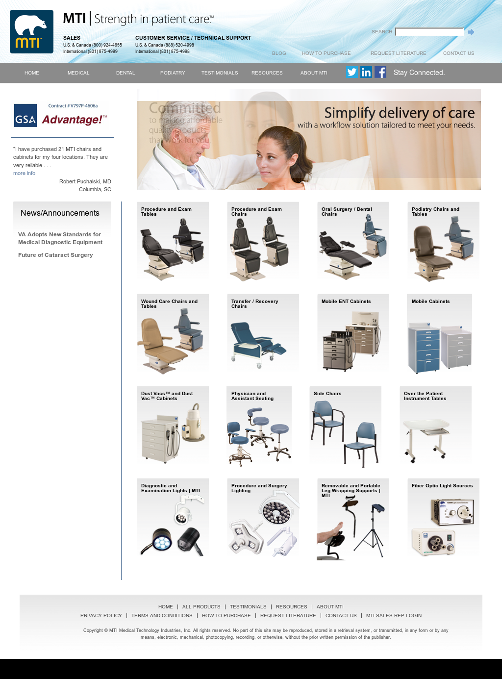 Mti Medical Technology Industries Website History