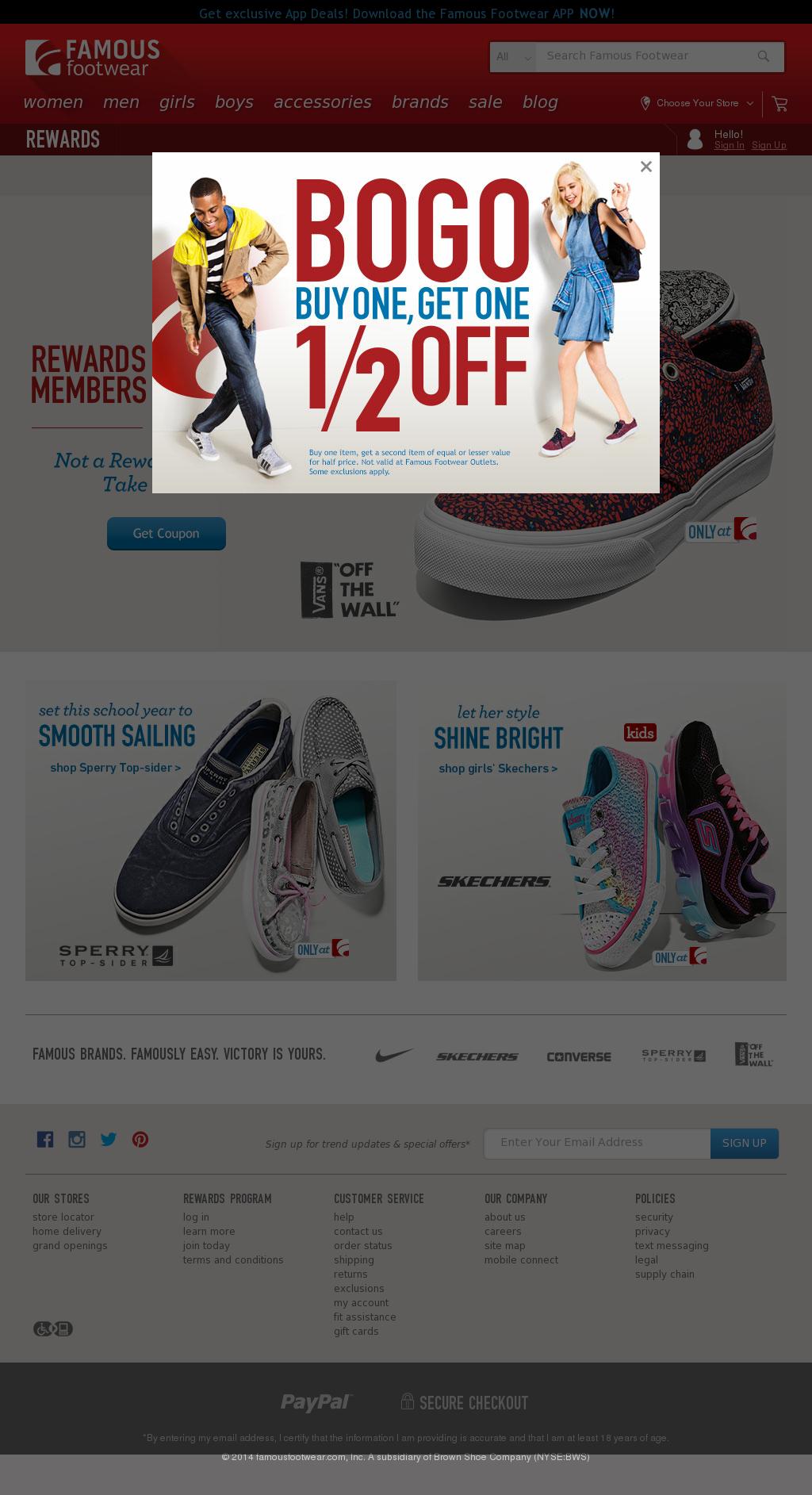 a8032a5cd6af Famous footwear Competitors