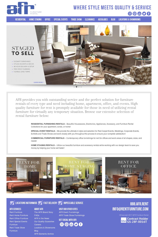 Afr Furniture Rental Website History