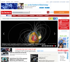 Science Magazine website history
