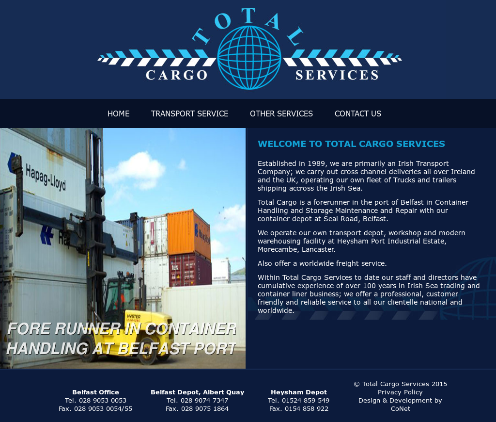 Total Cargo Services (N i ) Competitors, Revenue and