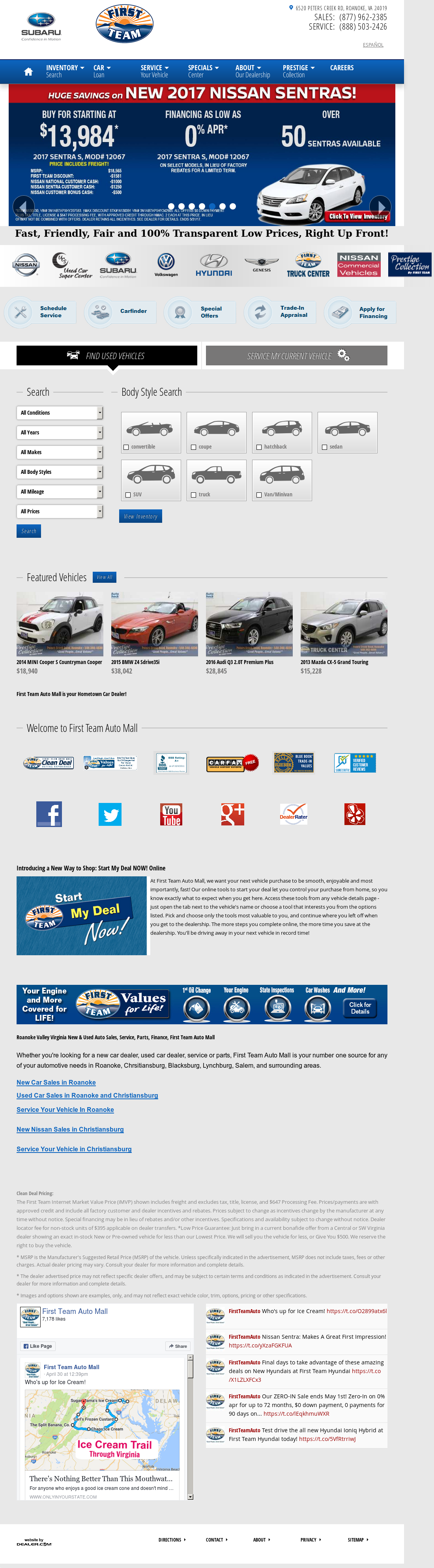 First Team Auto Mall Hyundai petitors Revenue and Employees