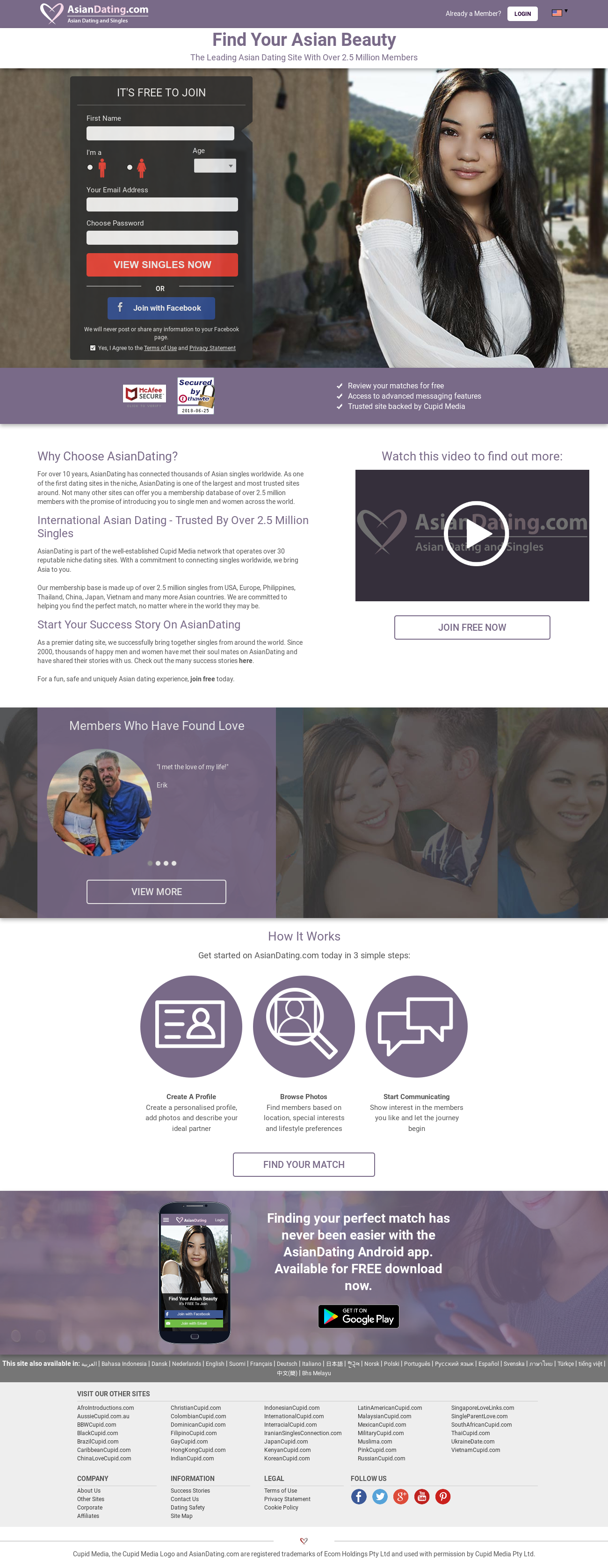 Größte Dating-Website america