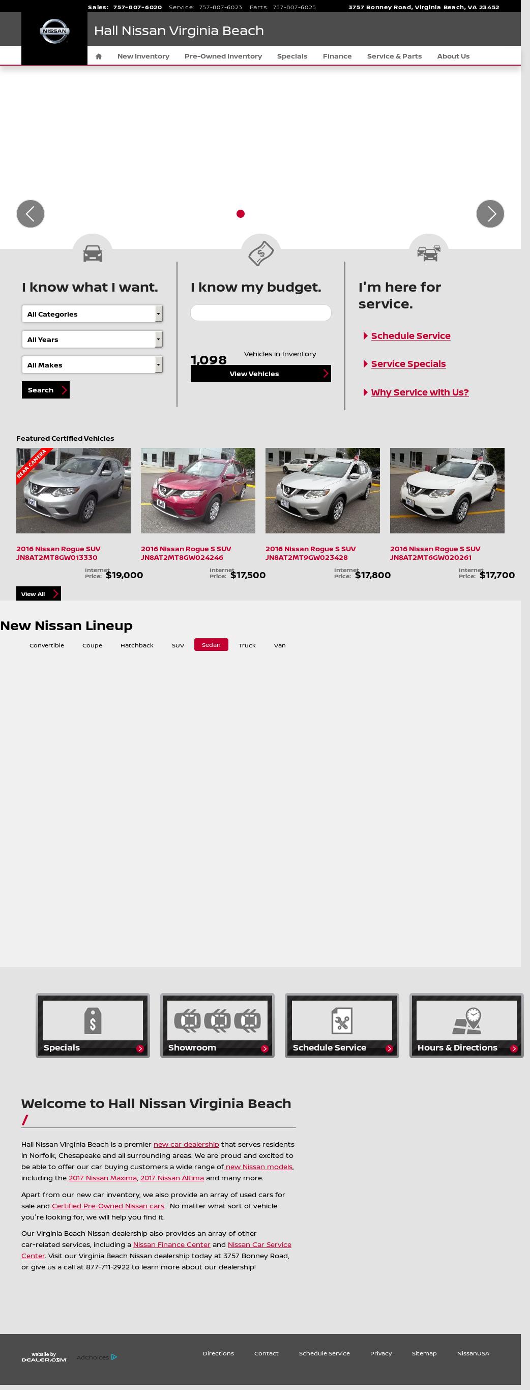 Hall Nissan Of Virginia Beach Website History