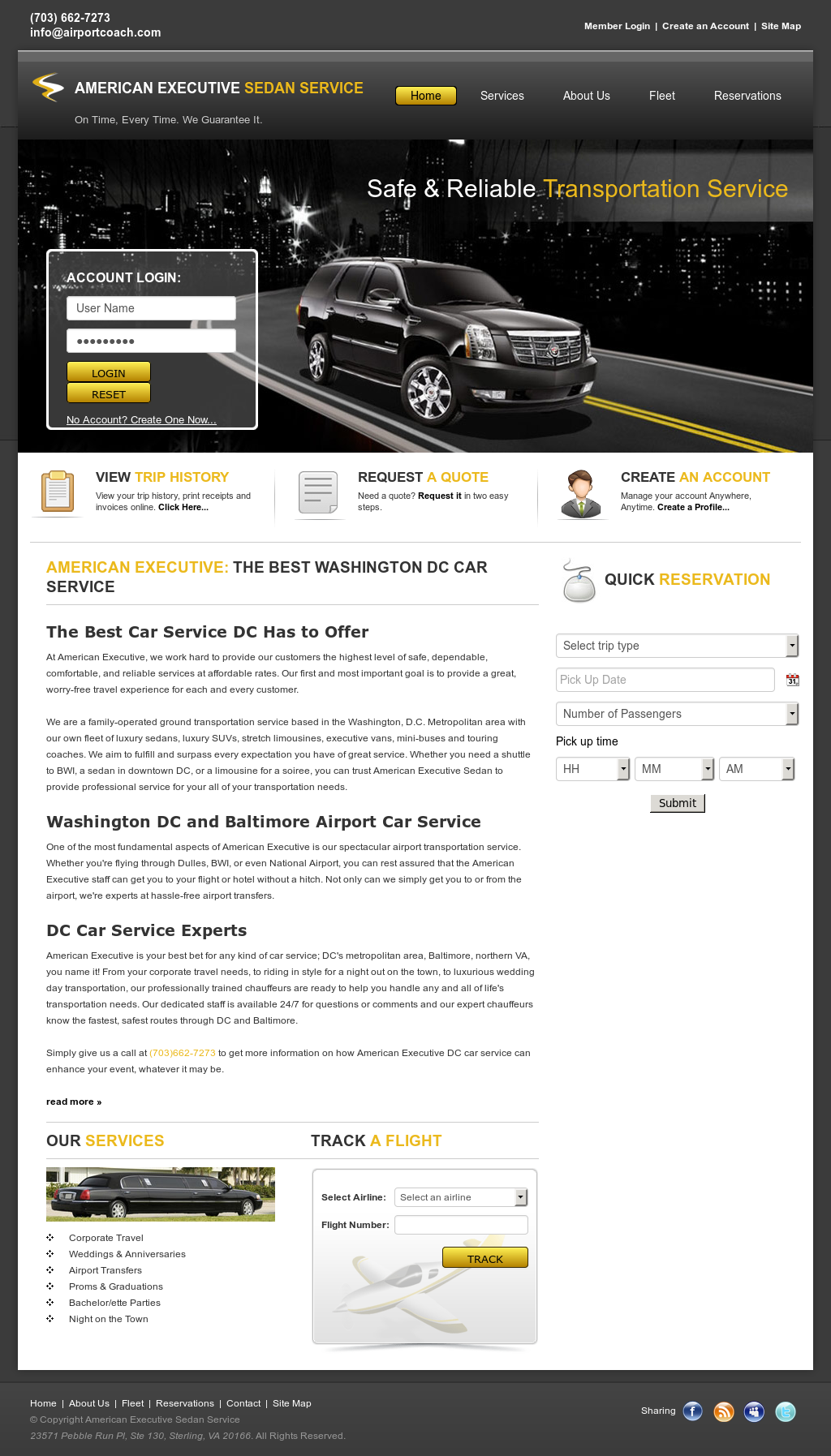 American Executive Sedan Services Compeors Revenue And Employees Owler Company Profile
