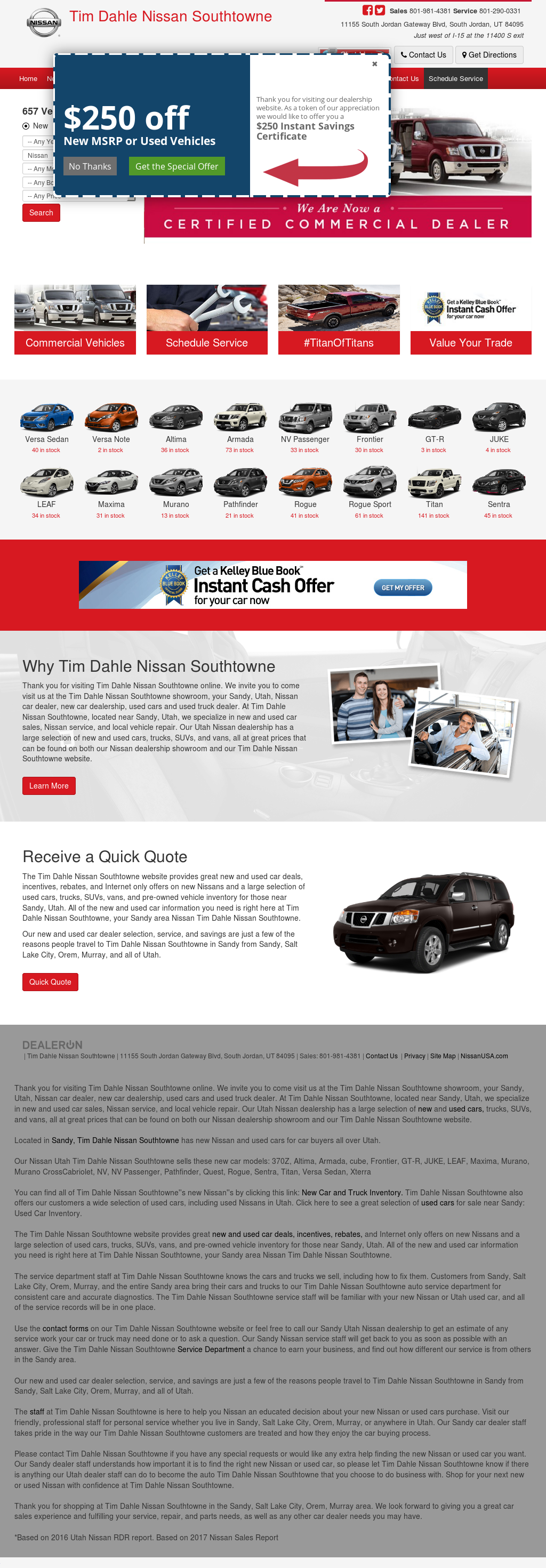 Tim Dahle Nissan Of Sandy Website History