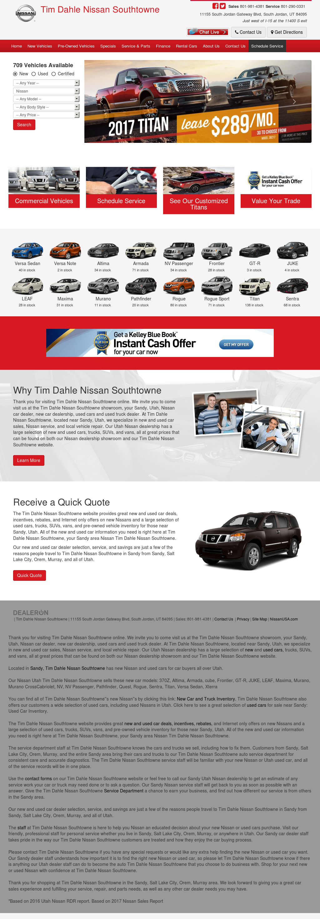 Great Tim Dahle Nissan Of Sandy Website History