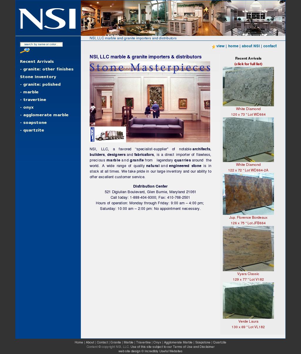 Nsi Llc Marble And Granite Importers And Distributors