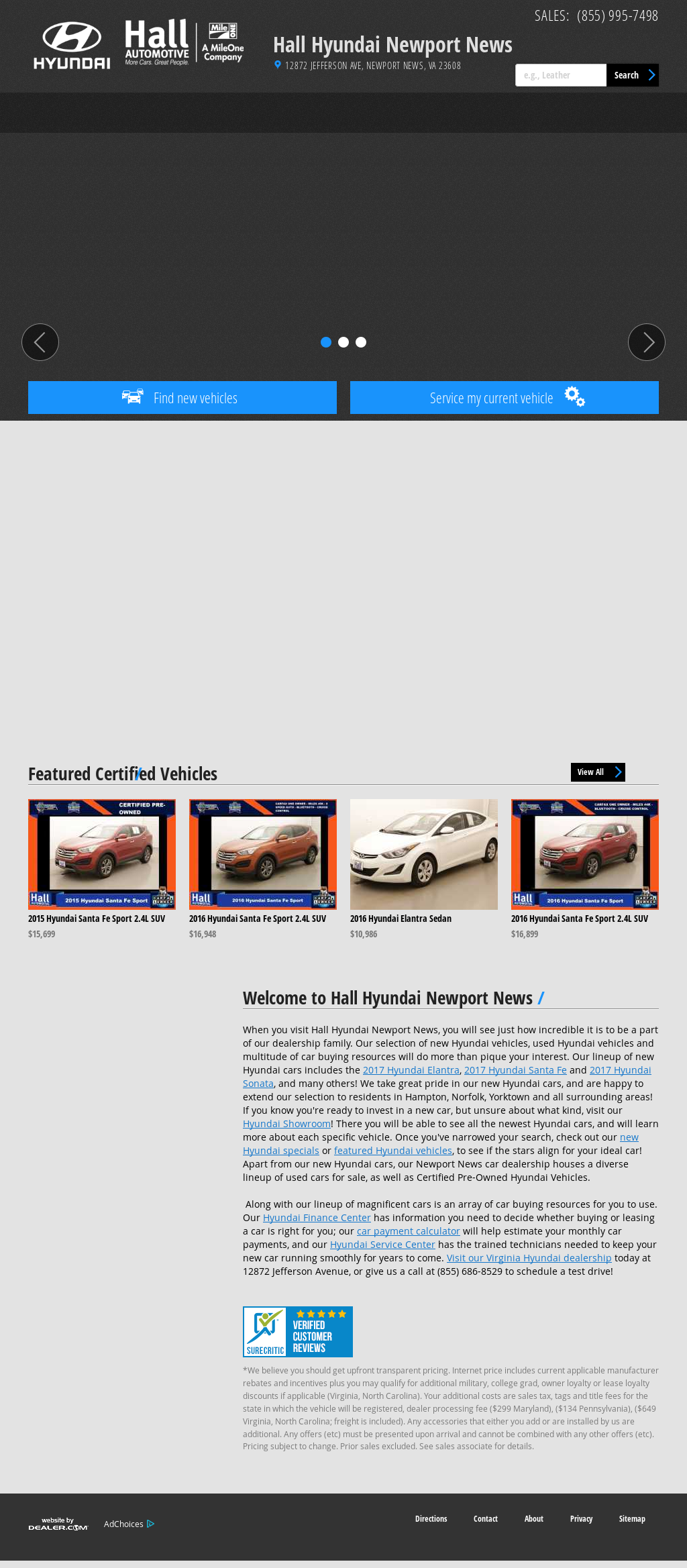Hall Hyundai Suzuki    Sales Website History
