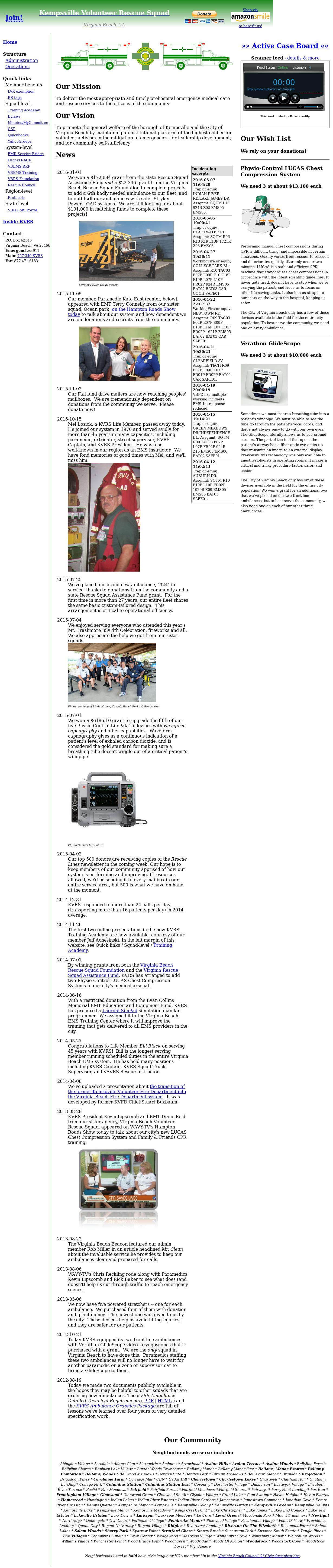 Kempsville Vlntr Rescue Squad Competitors, Revenue and Employees