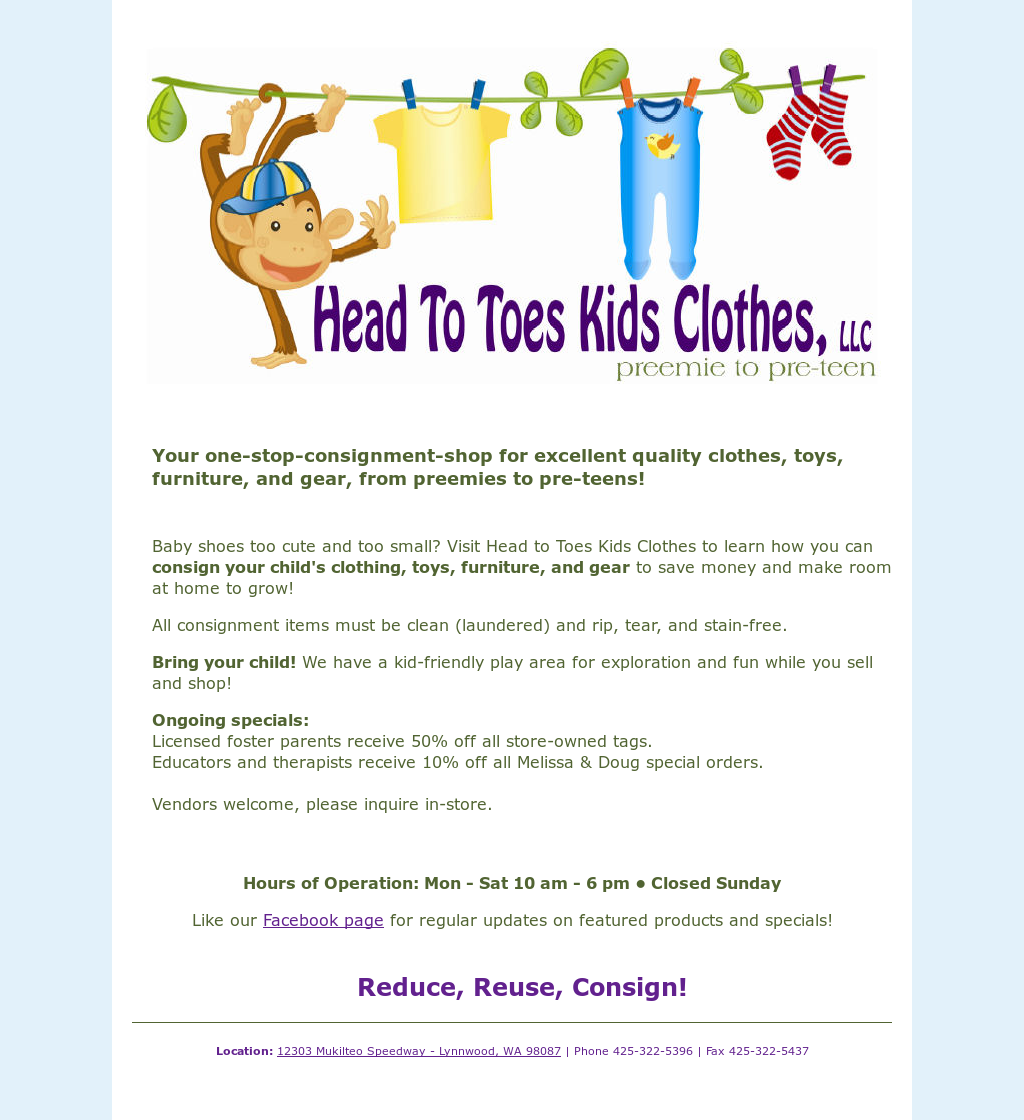 Head To Toes Kids Clothes Competitors, Revenue and Employees