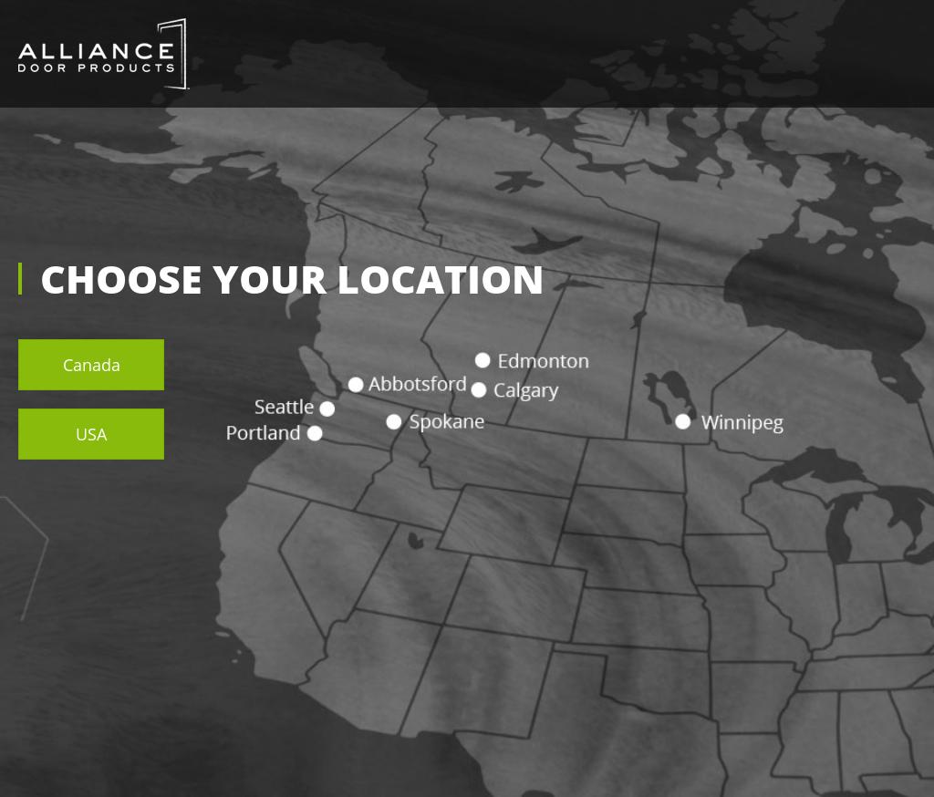 Alliance Door Products Website History
