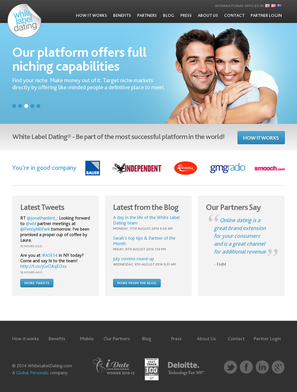 White label online dating