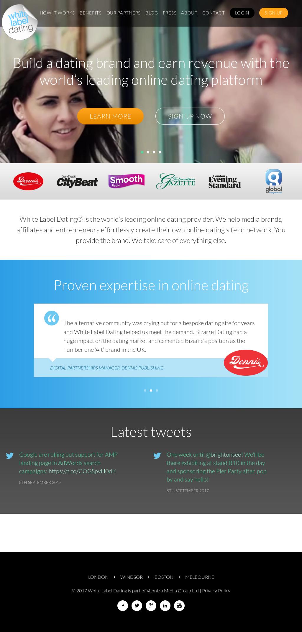 White label dating landing page