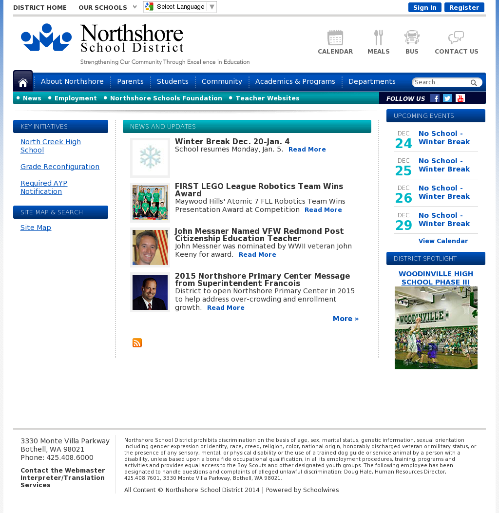 Northshore School District Calendar.Northshore School District Competitors Revenue And Employees