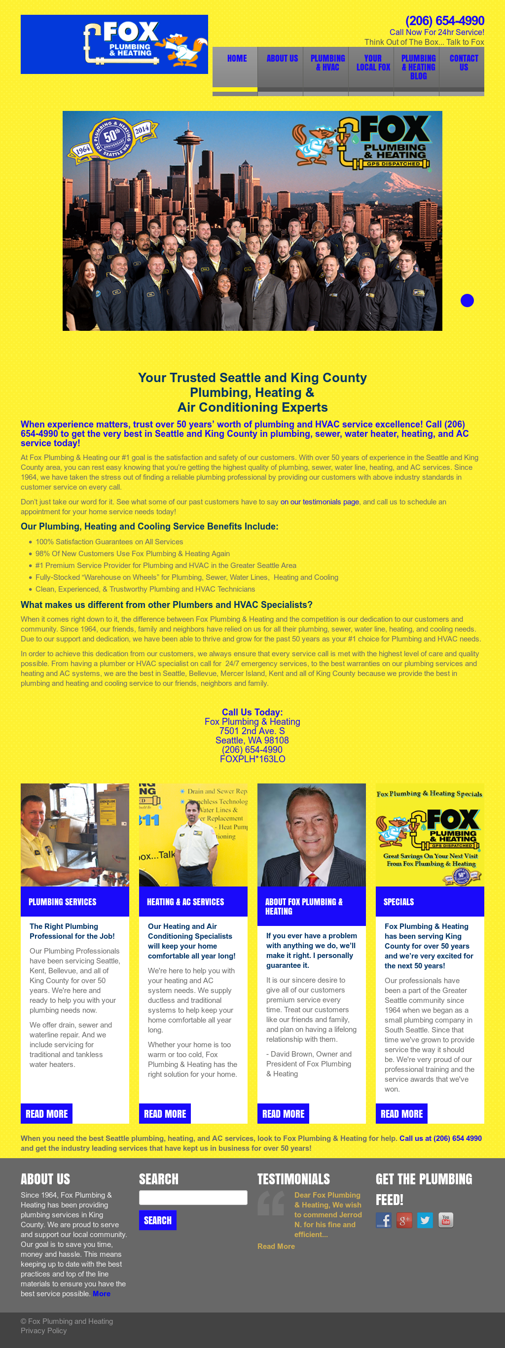 Fox Plumbing & Heating Competitors, Revenue and Employees