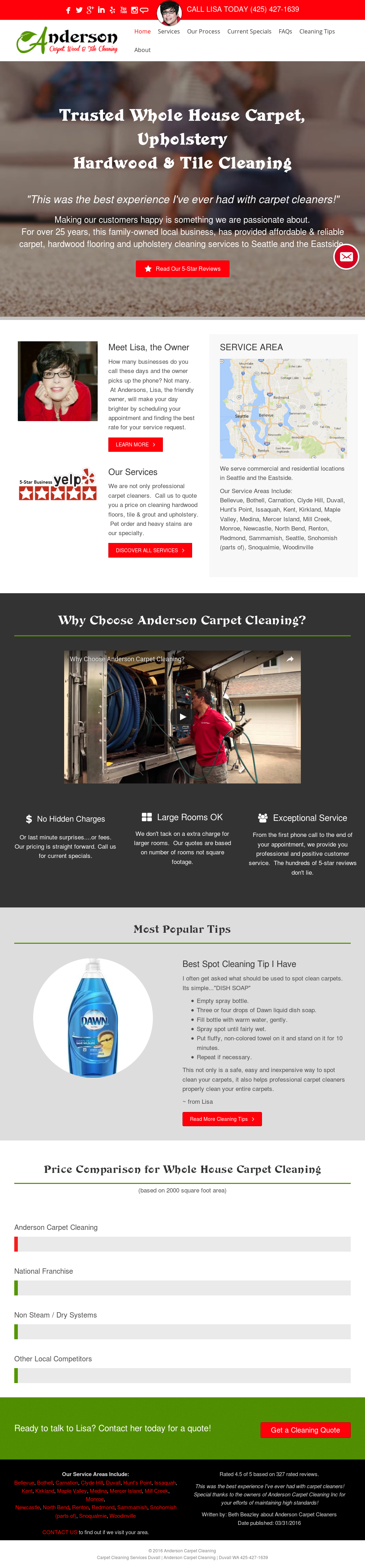Anderson Carpet Cleaning Competitors Revenue And Employees