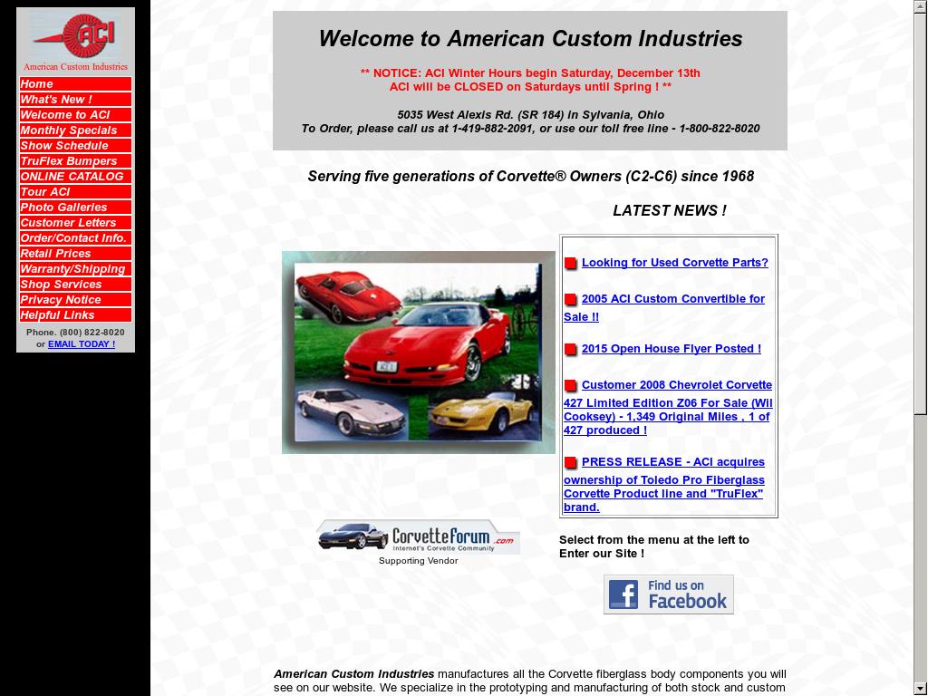 American Custom Industries Competitors, Revenue and