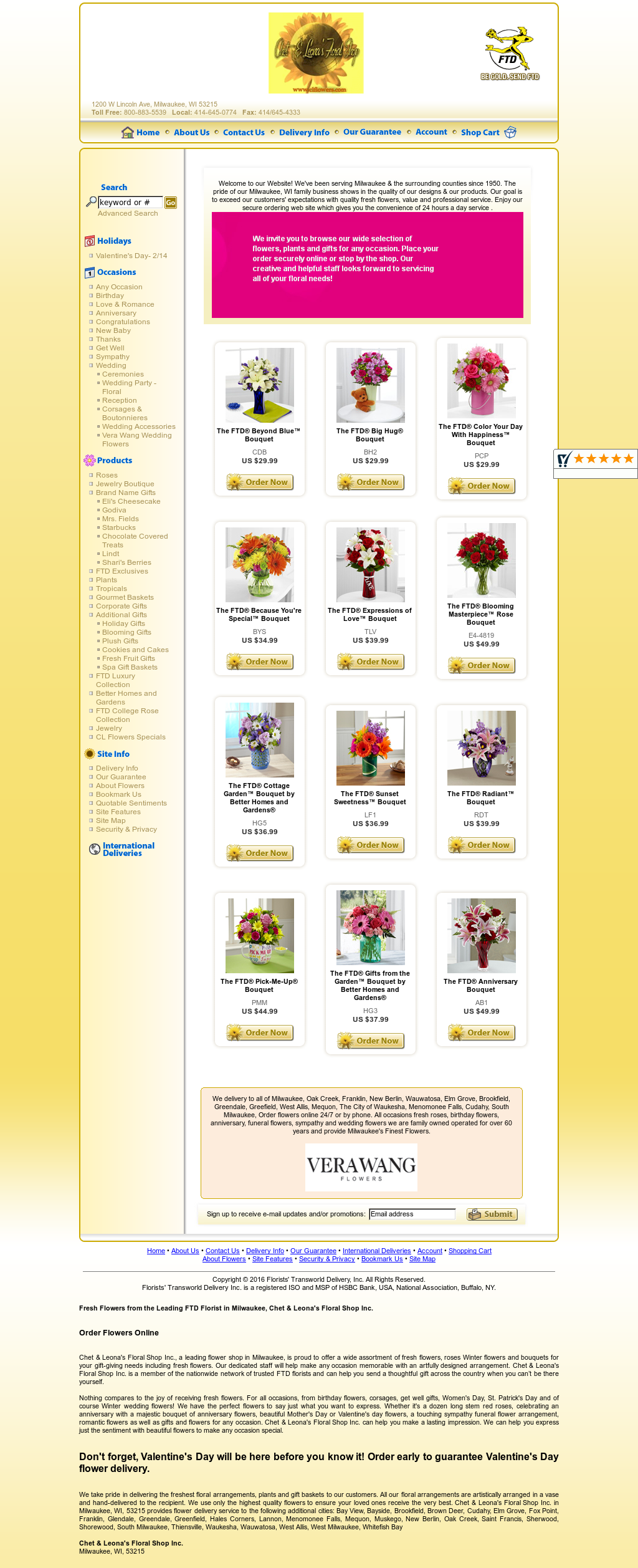 Chet & Leona's Floral Shop Competitors, Revenue and